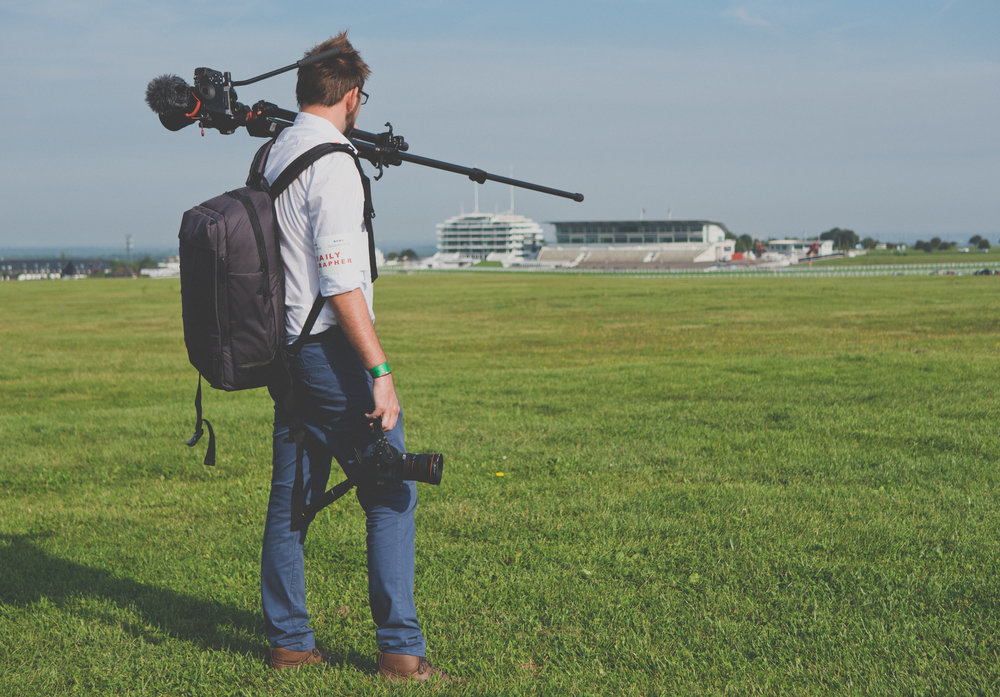 APVideo at Epsom Downs Racecourse Reviewing the Manfrotto Manhattan Mover Camera Backpack