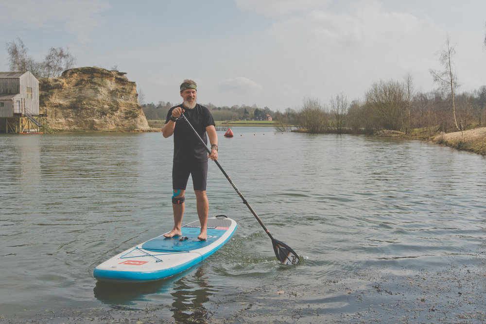 Scott from The Surrey Hills Adventure Company taking his SUP for a spin.