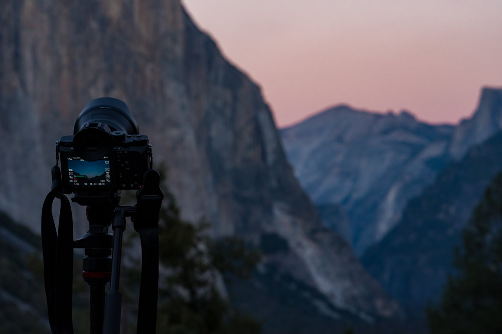 Yosemite Tunnel View Manfrotto Befree Tripod