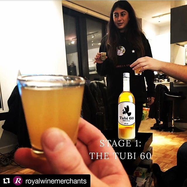 Shout out to @royalwinemerchants in Manhattan's FiDi for putting Tubi to through happiness test....looks like Pure Happiness was indeed achieved ⚡💛🍋 #tubi60