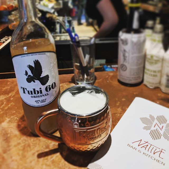 Trying the @nativehostel mule with Tubi was pure fuego 🙏💥🍋 #tubi60