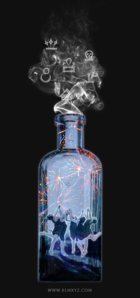 Digital Collage Artwork - Alchemy