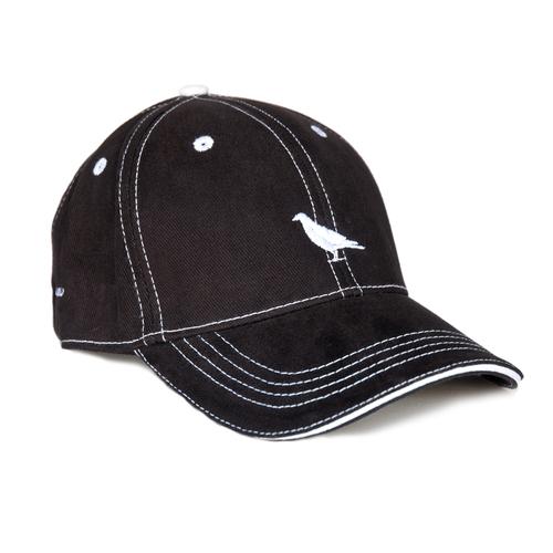 Black Baseball Cap w  White Stitching.  Black-Contrast-Stitch White-logo silo.jpg 4f077d10814