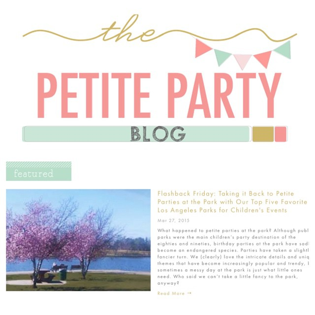 NEW { on The Petite Party Blog } F L A S H B A C K FRIDAY! We're taking it back to petite parties at the park with this post..remember the golden days...w/ pizza, cake, + playground bliss? Stop by www.thepetitepartylist.com to reminisce, and discover some awesome LA parks for your next event.