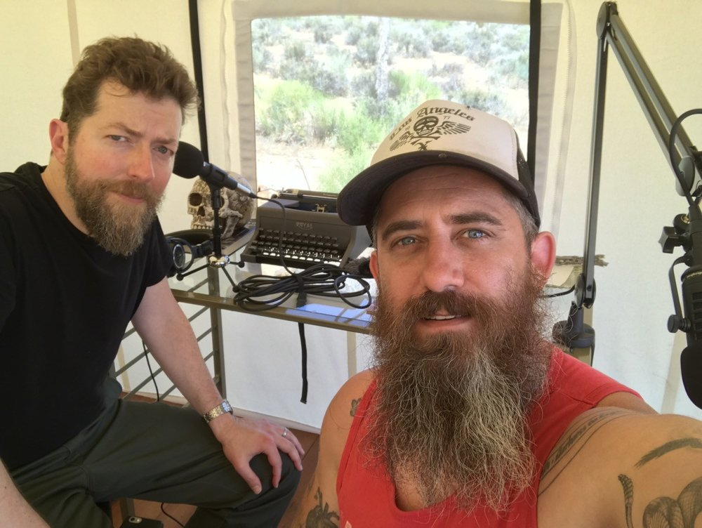 PHOTO: Ken Layne ( Desert Oracle ) and Jeremy Corbell Corbell, Pioneertown, California