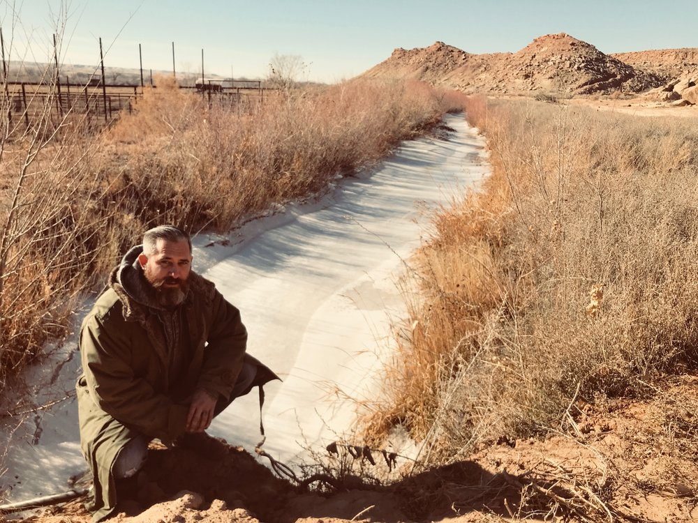 Jeremy Corbell at Skinwalker Ranch on a recent visit.