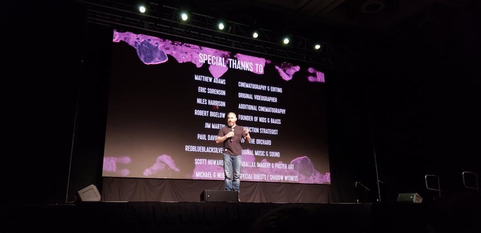 Filmmaker, Jeremy Corbell at the world premiere of   Hunt For The Skinwalker   at Salt Lake City Comic Con / Fan X
