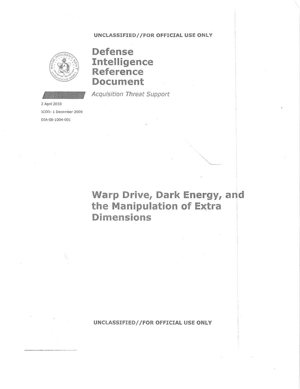 #19 - Warp Drive, Dark Energy & Dimensions