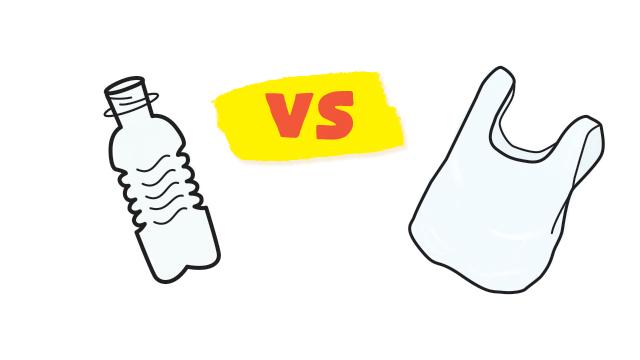 BOTTLES vs. BAGS