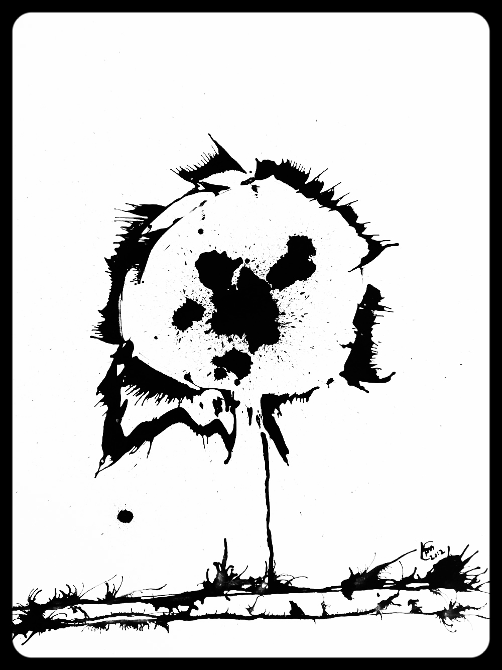 "#63 Spark Flower (30x40"") *SOLD*"