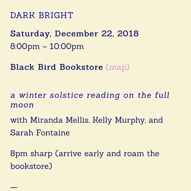 Dear everyone, please come to Black Bird Bookstore in the Outer Sunset this Saturday night to listen to these three #babegenius women read.