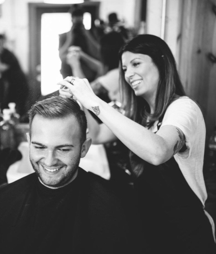 "Grooms and Groomsmen - LOOKING FOR SOMETHING TO DO THE DAY OF YOUR WEDDING, OR SIMPLY WANT A FUN AFTERNOON RETREAT FOR YOU AND YOUR BUDDIES? Someplace where you can bring all of the generations of men in your family together for a photo opp that doesn't feel so ""staged"" WE'VE GOT YOU COVERED.HAIR CUT starting at $25CLEAN UP $10HOT TOWEL SHAVE $45MUSTACHE AND BEARD TRIM $10"