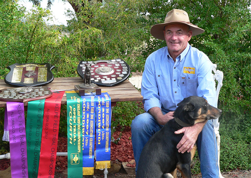 Kevin With Karana Duke National Kelpie Champion 2007