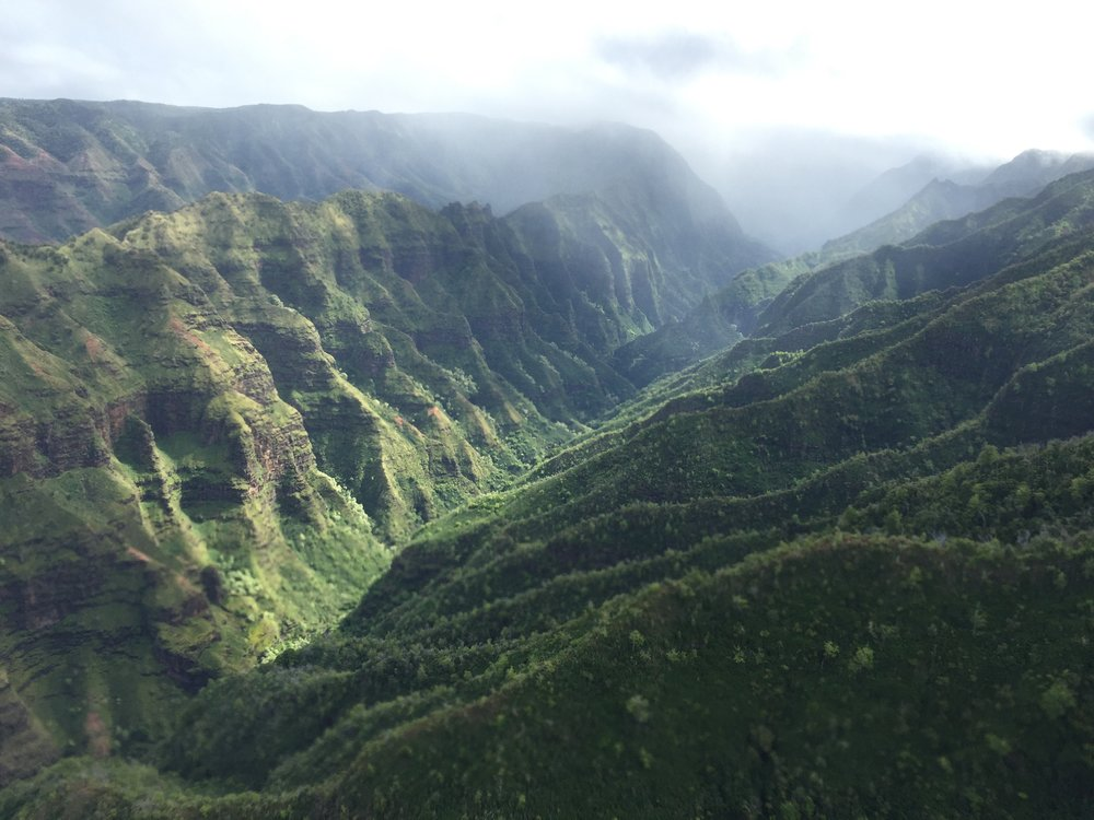Kauai from above.