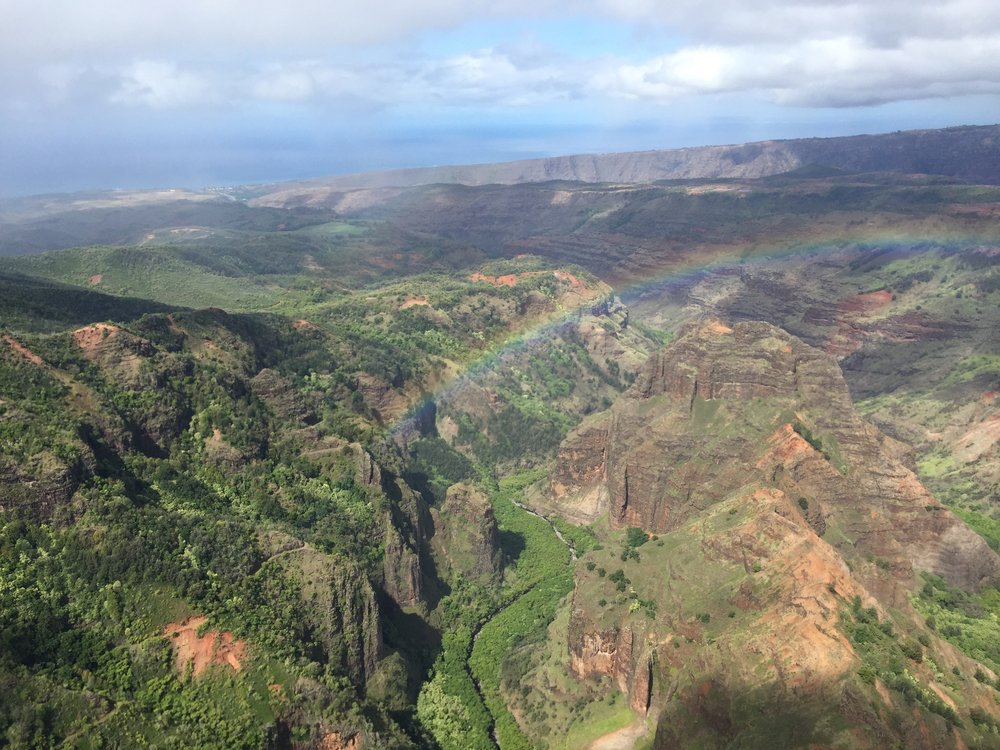 Approaching Waimea Canyon.