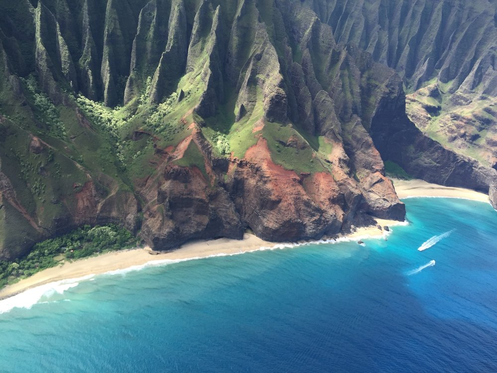 Kalalau Beach from above.