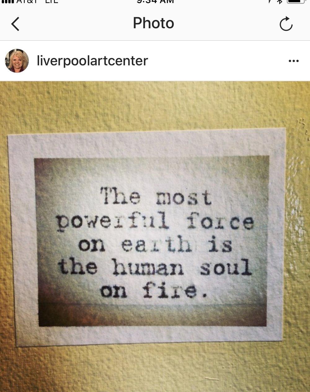 our studio restroom has inspiring quotes galore!