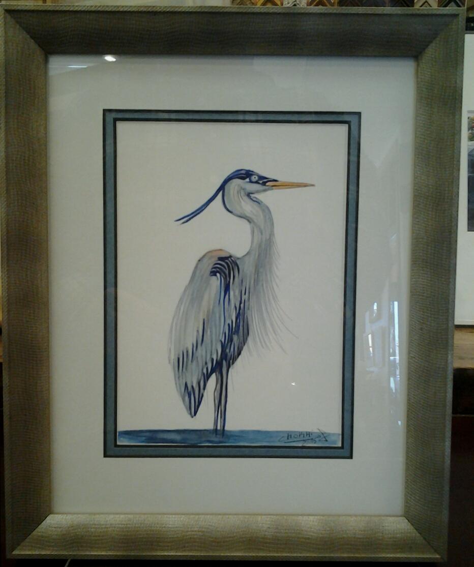 """""""Heron No. 2"""" - Watercolor"""