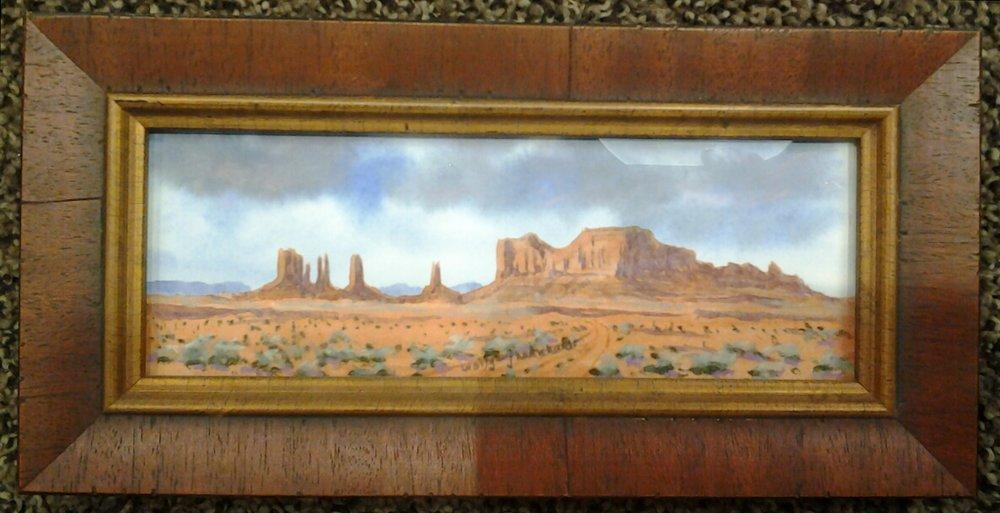 """Stagecoach Mesa"" - Watercolor/Pastel"