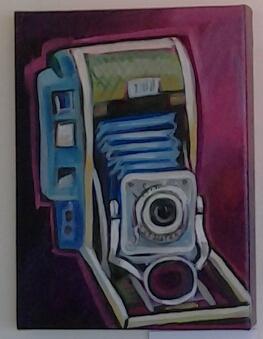 """Polaroid Love"" original acrylic by Ellen Jo Roberts - $123 (9"" x 12"")"