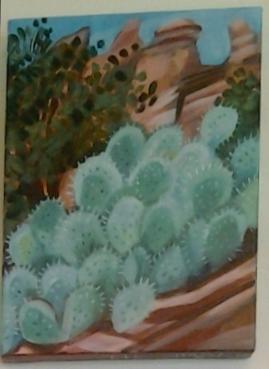 """Sedona Hike"" original acrylic by Ellen Jo Roberts - $116 (9"" x 12"")"