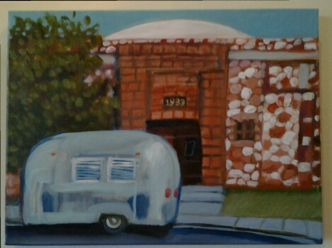 """Cottowood Civic Center"" original acrylic by Ellen Jo Roberts - $172 (16"" x 12"")"