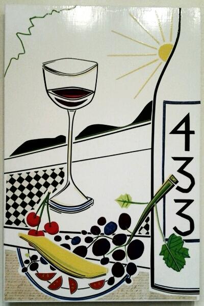 """""""Bottled Poetry"""" original masking tape art by Beth Detwiler - $375 (16"""" x 24"""")"""
