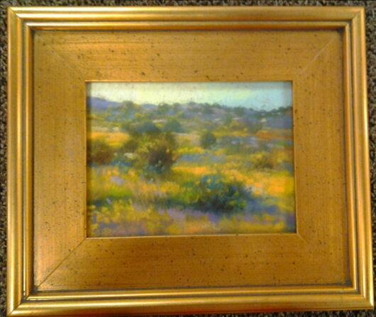 """Ochre Afternoon"" original oil by Christine Debrosky - $175 (13.5"" x 11"")"