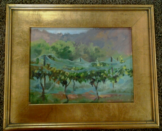 """Veiled Vines"" original oil by Christine Debrosky - $385 (17"" x 14"")"
