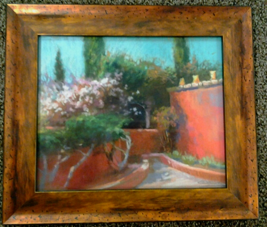 """Chili Corner"" original pastel by Christine Debrosky - $385 (15"" x 13"")"