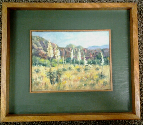 """Sedona Yuccas"" original oil by Rosemary Nelson - $200 (14"" x 12"")"