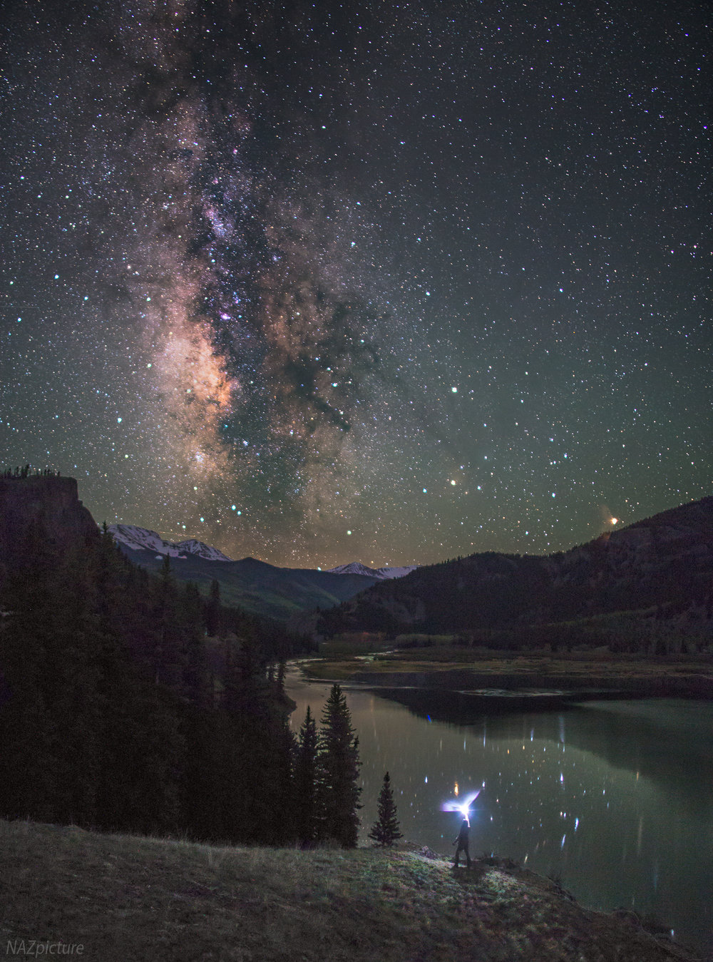 Lake San Cristobal, Colorado during peak Milky Way season. [Lake City, Colorado]