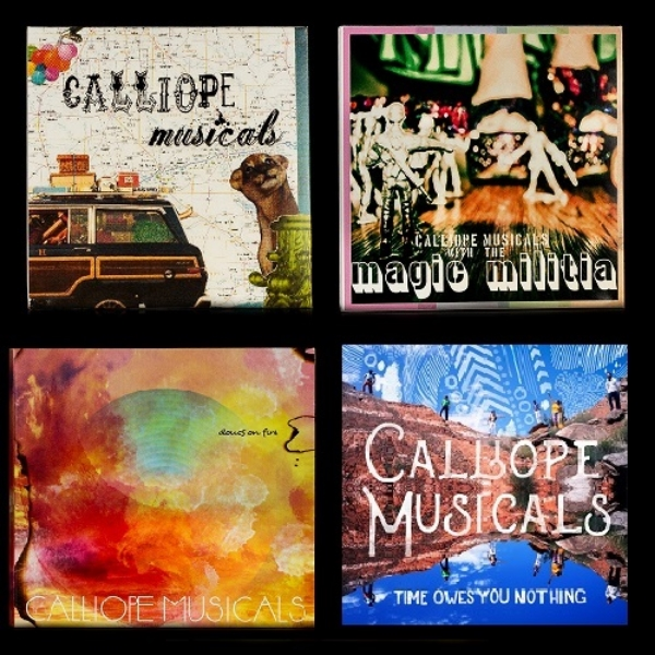 4 CD Bundle! (Time Owes You Nothing, Clouds On Fire, Magic Militia & Calliope Musicals EP) - $25