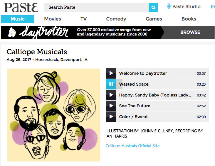 Calliope Musicals' Daytrotter Session -