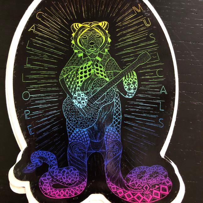 Snakebear Sticker