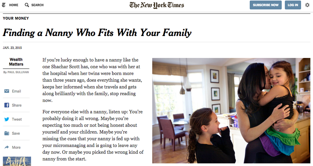Tammy featured in the New York Times