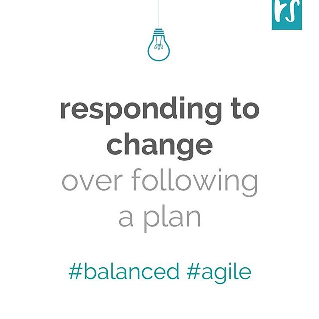 Words for the weekend: It's more important to respond to change, instead of following a plan. (Agile principle no.4)  In #tech - as in life - planning guides you; adapting those plans to what's going on around you will get the best results.  Check out this and other nuggets of wisdom on agilemanifesto.org - the site is super retro but the philosophy still holds true. . . .  #tgif #weekend #reflections #techLA #agile #lean #entrepreneur #startup #startuplife #startups