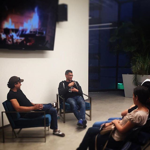 'Engineers and designers speak two different languages. Learning each others language opens the door for rich conversations that drive rapidly innovative products.' . Fireside chat w Riot Games Agile coach Theron James on how #UX #design and #Agile can work together for best results.  #agilenow #RiotGames #tech #techLA #product #balanced #balancedteam #leanstartup #rhubarbU #designthinking #productivity #innovation 📸: @mrprust