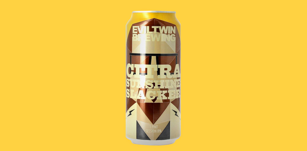 "Always liked  The Dieline  and we're happy to be mentioned for our package design for the Citra Sunshine Slacker beer for  Evil Twin Brewing  ""The geometric design takes center stage, keeping the overall look simple yet fun."""