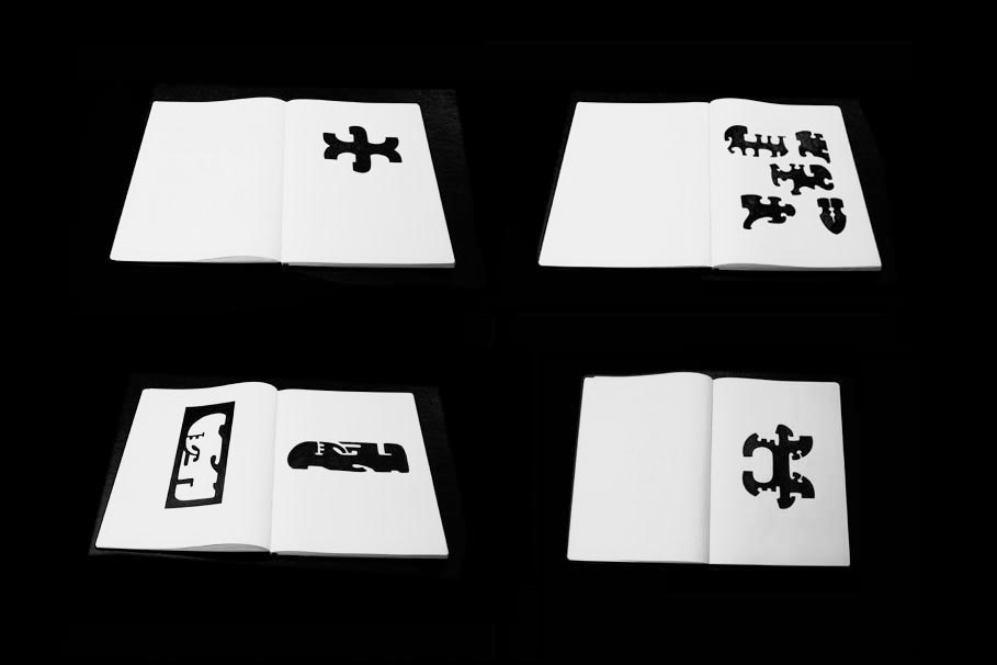 INTUIGRAMS NOTEBOOK.   2011 - 2012.  Ink on paper. Moleskine Folio Books 11¾ × 16½ in