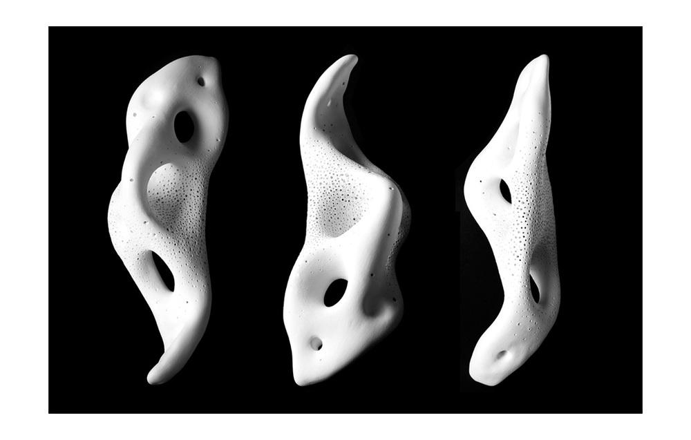 HEALING MATTER AMULETS . 2014.Porcelain.9 1/2 x 3 1/2 x 1 in