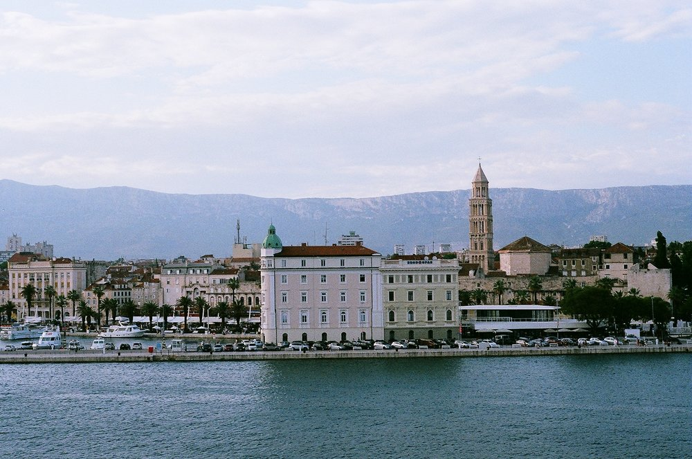 view of Split, Croatia from the ferry