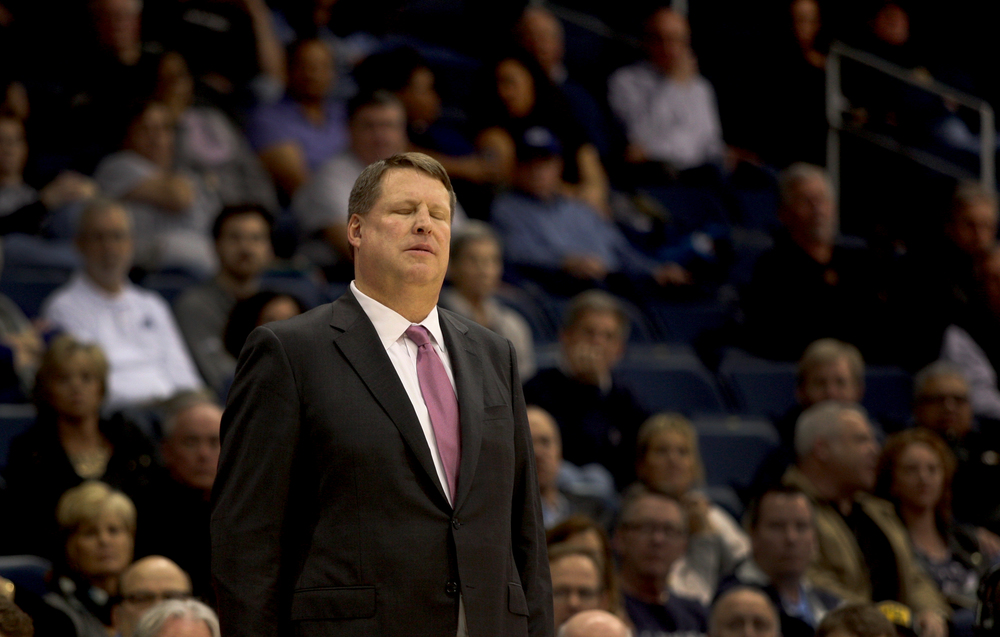Old Dominion head basketball coach Jeff Jones reacts to a missed free throw in the closing seconds of ODU's 64-61 loss to Middle Tennessee, Saturday, Jan. 16, 2016 at the Constant Center in Norfolk. (Jason Hirschfeld | For The Virginian-Pilot)