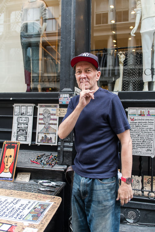 Artist, Matthew Courtney in Soho