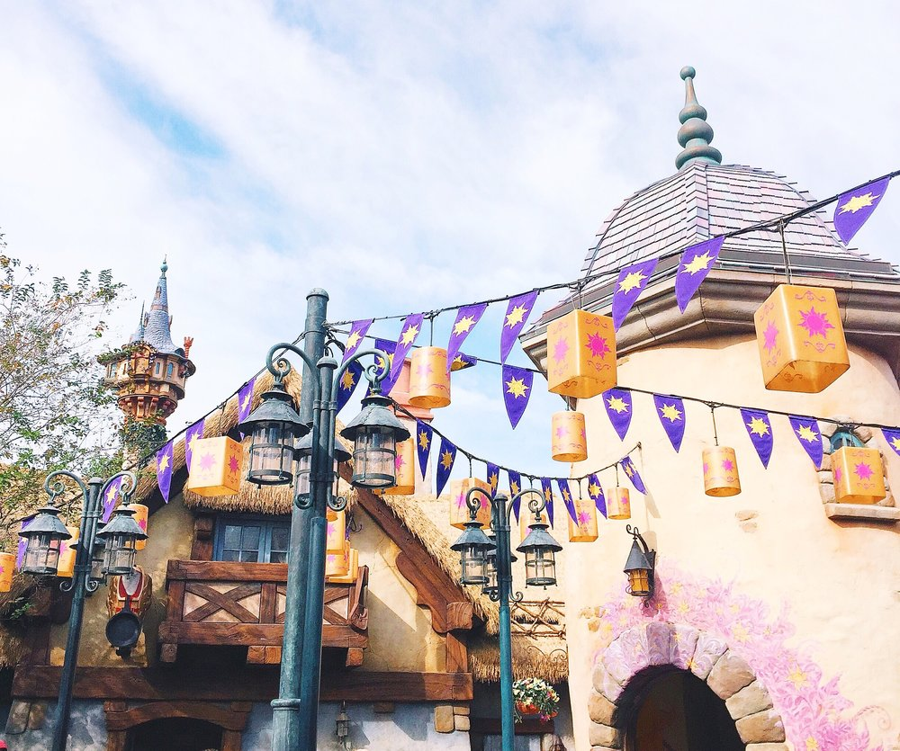 Can you see Rapunzel's tower? This area is seriously like being right in the movie!  Swoon.
