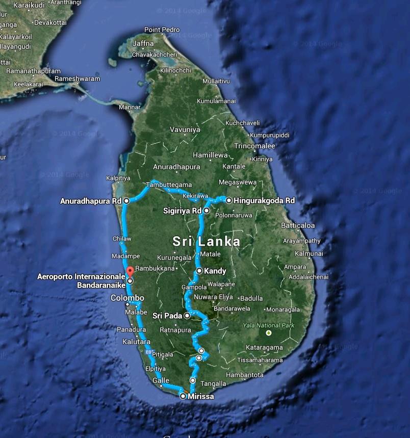 Clicca sulla mappa per vedere il nostro itinerario di viaggio.