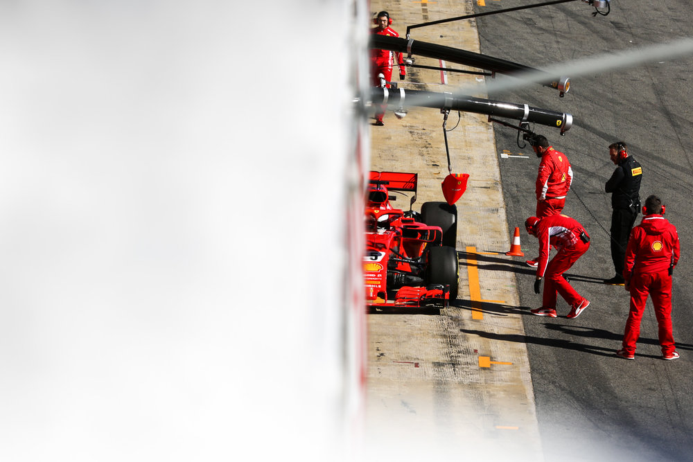 Sebastian VETTEL - Germany - SCUDERIA FERRARI - #05- F1 Test Days - Circuit de Barcelona Catalunya - Spain - 06 March 2018