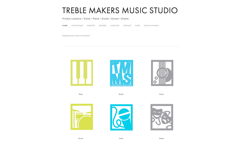 Treble Makers Music Studio is a music lesson studio based in Northport Alabama. Seed is handling the website, photography, promotional video, and icon design for the website.