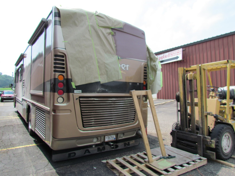 motor home body and frame work