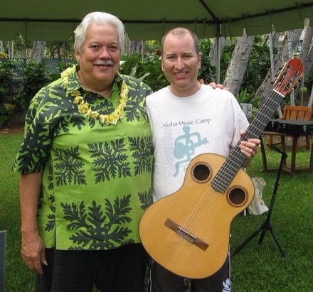 Me and my beautiful kumu (teacher), Keola Beamer from a few camps ago. Such a wonderful man.
